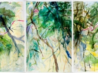May Triptych, mixed media, 40x80